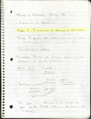 Chapter 1 Notes (Fundamentals of Managerial Economics)