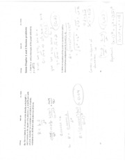 Some Chapter 1 and 2 Review Problems KEY