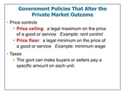 Lecture 5 Slides-Government Policies