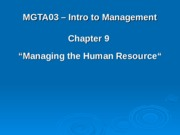12 Chapter 9 - Managing Human Resources.ppt