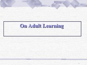 AdultLearning