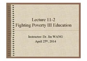 Lecture+11-2+Fighting+Poverty+III+Education