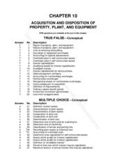 Chapter 10 Acquisition and Desposition of PPE