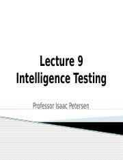 Lecture 9 Intelligence Testing_ICON