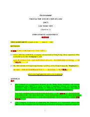 A804 Exam (Reading Material) Q3&4_Employment Agreement.doc