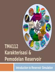 TM4112 - 2 Introduction to Reservoir Simulation.ppt