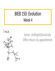 BIEB 150 Section, Week 4 Email