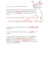 Class Notes for Introductions to Economic - ECON100 Chapter 21 part 2