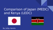 Comparison of Japan (MEDC) and Kenya (LEDC)