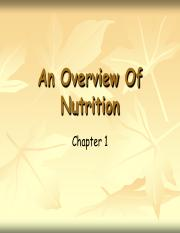 Nutrition Chapter 1