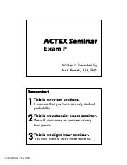 Actex Flashcard 2