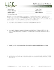 CLIN 3507 Update Assessment Worksheet