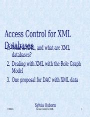 Set 7, Access control for XML.ppt