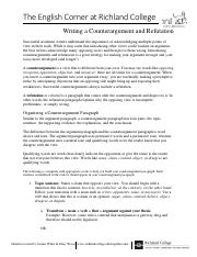 Writing a Counterargument and Refutation.pdf