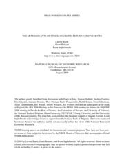 [NBER] THE DETERMINANTS OF STOCK AND BOND RETURN COMOVEMENTS