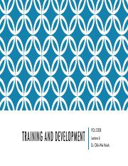 Lecture 6 Training and Development (1)