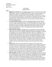 a character analysis of the story nectar in a sieve Gmt nectar in a sieve pdf - nectar in a sieve audiobook free download - ionelacouk posted on  overview nectar in a sieve is the sad story of a large poverty-stricken hindu family in a remote  students this concise study guide includes plot summary character analysis author biography study questions historical context suggestions.