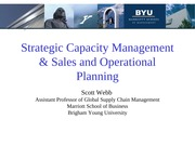 Class 5 - Capacity Management