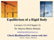 Chapter5-Equilirbium of Rigid Body (three dimension )