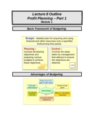 ACCT 226 online lecture #8 filled out (Prof Fergusson) - Profit Planning Pt 1