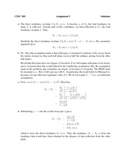 CPSC 505 Winter 2013 Assignment 5 Solutions