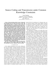 Source Coding and Transmission under Common Knowledge Contraints