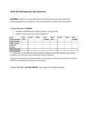 NUTR 436 Anthropometry Lab Instructions (Jennifer L Mansfield) ngm