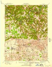 Topo Map - Mammoth Cave, KY - 1922 - 15 minute