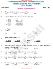 (www.entrance-exam.net)-AP CEEP Polytechnic Entrance Question Sample Paper 2