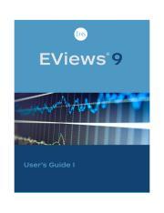 EViews 9 Users Guide I pdf - EViews 9 User's Guide I EViews