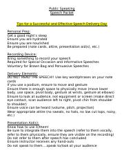 ASU Public Speaking in-class Speech_Packet(1) (1)