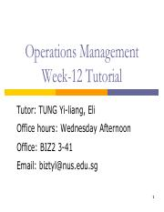Tutorial Week 12 OM AP