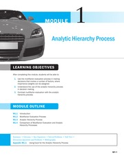 module01 analytic hierarchy process