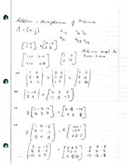 Addition and Multiplication of Matricies