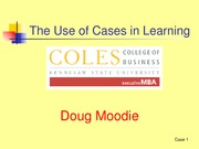 The Use of Cases in Learning