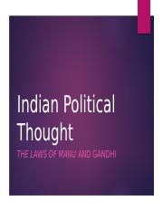 Lecture 12 - Indian Political Thought.pptx