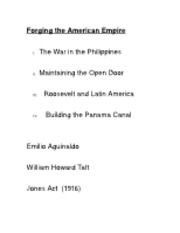 Forging the American Empire