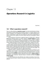 Essentials of Logistics and Management by Jaffeux 3e Chap 13