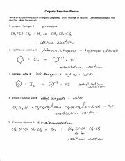 Organic reactions review