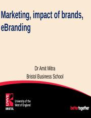 Marketing, impact of brands, ebrands 29 Oct 18.pptx