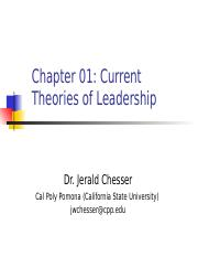 Chapter 1 Current Theories of Leadership.ppt