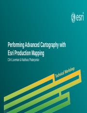 Performing Advanced Cartography with Esri Production Mapping