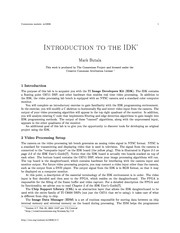Introduction to the IDK