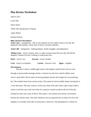 Play Review Worksheet 10