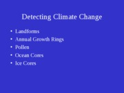 Natural Climate Change - Detection