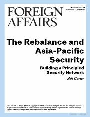 Ash Carter--The Rebalancing and Asia-Pacific Security (Foreign Affairs).pdf
