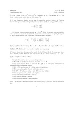 Final Exam Solution Spring 2014 on Linear Algebra