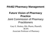 Activity JCPP Future of Pharmacy 2015