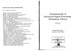 Fundamentals of statistical signal processing detection theory pdf