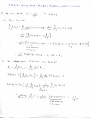 STA 457- Chapter 5- Practice Problems